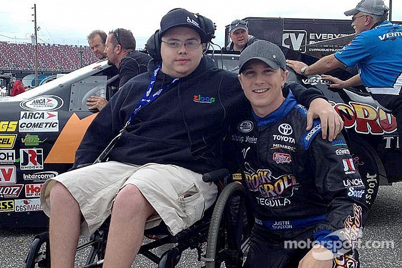 Aaron Grosskopf - A kid with Cerebral Palsy who dreams of checkered flags