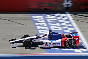 Post-qualifying quote sheet at Fontana before Mikhail Aleshin accident