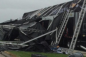 Chevy stage collapses ahead of Jeff Gordon appearance in Kansas
