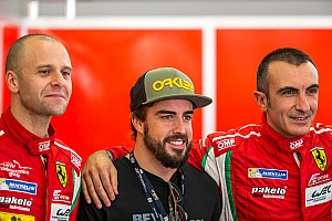Alonso making the rounds around WEC paddock in Bahrain