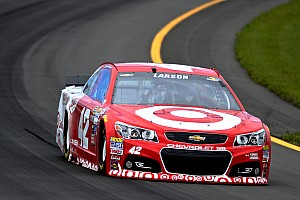 NASCAR notebook, Michigan: Larson OK with calculated risk