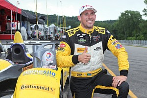 Simpson dodges rain to qualify on the Lime Rock pole