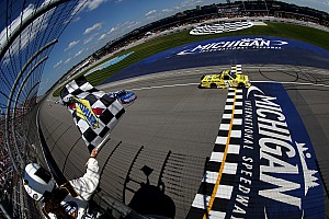 Busch battles back for first Michigan win