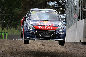 Hansen leads World RX crews after day one in Norway