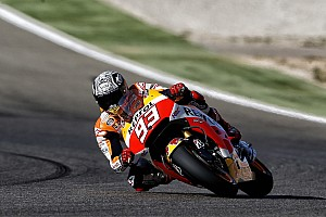Marquez takes record breaking pole in Aragon with Pedrosa on second row