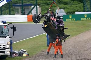 Red Bull's Kvyat will start from pit lane on tomorrow's Japanese GP