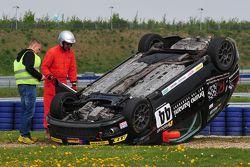 Aftermath of Saskia Müller flipping through Turn 1