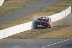 Dillon Koster crash hard, SEAT Leon Supercopa Hockenheimring II 2008