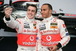 Alonso and Hamilton in happier days