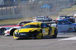 ADAC GT Masters Race 1 - Pierre von Menthlen crashes in the Hairpin