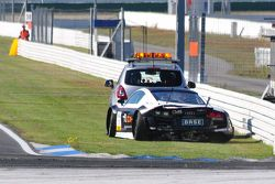 The destroyed Audi R8 LMS of Haase / Simonsen