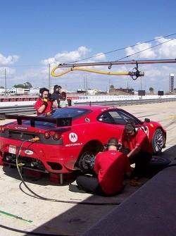 Team Ferrari in The Pits