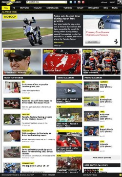 New-look front page of Motorsport.com