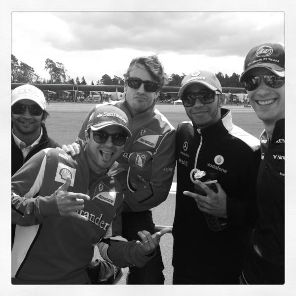 Lewis Hamilton, Fernando Alonso, Felipe Massa,