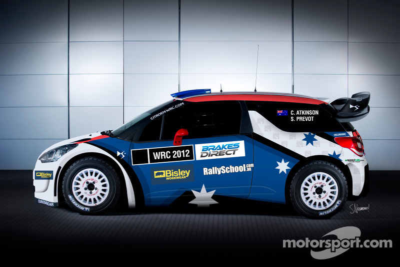 All new livery for the Chris Atkinson car