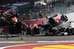 Spa Turn 1 Crash