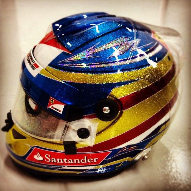 Fernando Alonso Singapore Helmet Design