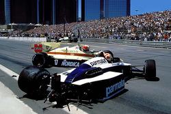 Nelson Piquet and Marc Surer crash
