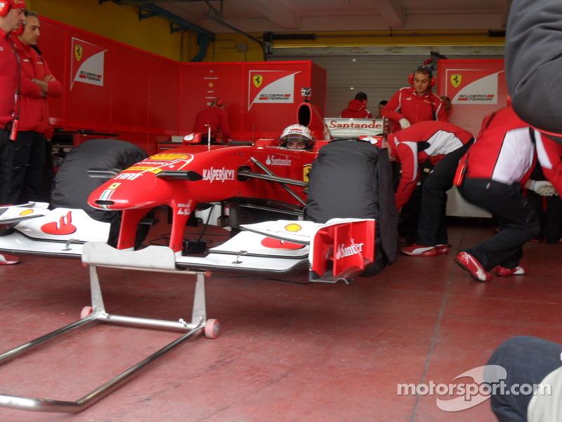 Daniel Juncadella Ferrari F1 test vallelunga 9/11/2012