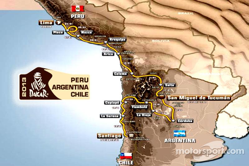 2013 Dakar - The Route