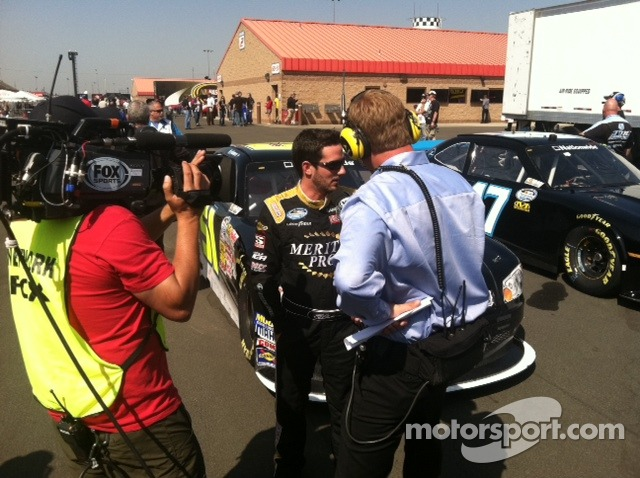 On the pole for now while Bob Dilner interviews Jeremy
