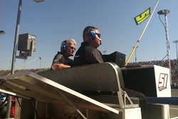 Team owner Tony Clements and Crew Chief Rickie Pearson up on the JCR pit box