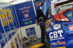 77 Andrew Jordan's car is nearly ready for racing