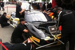 The AGM crew at work on John Farano's Sunday Race Car