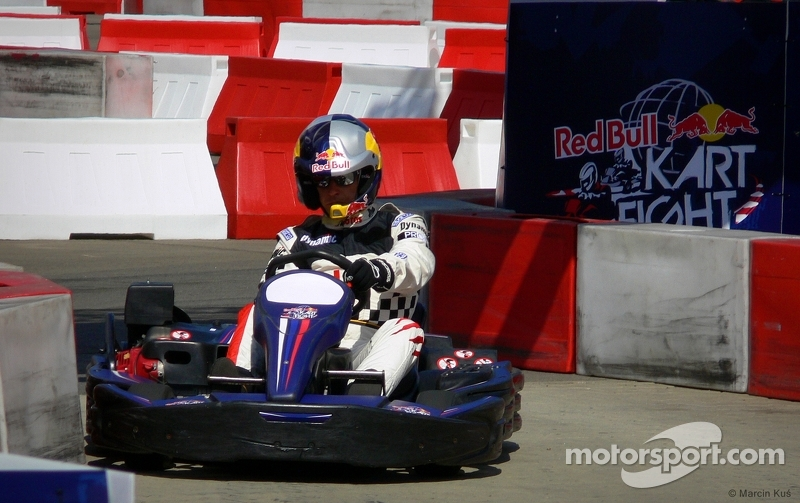 Drivers of sports Michał Kościuszko in kart