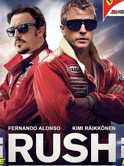 Kimi Raikkonen and Fernando Alonso in a Rush movie poster spoof.
