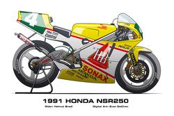 Honda NSR250 - 1991 Helmut Bradl