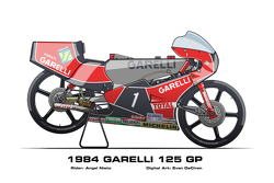 Garelli 125 GP - 1984 Angel Nieto