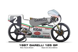 Garelli 125 GP - 1987 Fausto Gresini