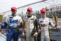 Monza Podium: Andrea Roda, Kevin Giovesi, Giuseppe Cipriani