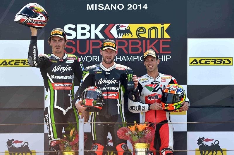 Race 1 podium at Misano