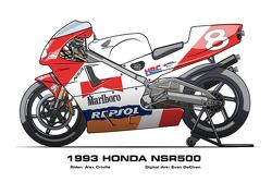 Honda NSR500 - 1993 Alex Criville