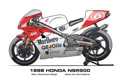 Honda NSR500 - 1998 Massimiliano Biaggi