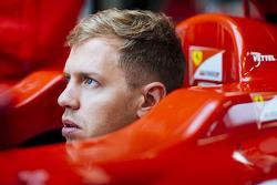 Sebastian Vettel tests a 2012 Ferrari F1 at Fiorano