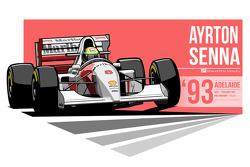 Ayrton Senna - 1993 Adelaide