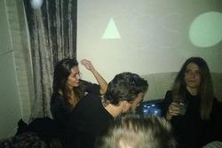 Lara Alvarez and Fernando Alonso at the Ferrari Christmas party