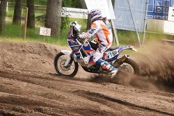 Humphrey Senn Van Basel prepares for the 2015 Dakar Rally