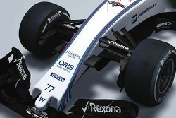 The 2015 Williams F1 FW37 nose revealed in F1 Racing magazine