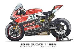 Ducati 1199R - 2015 Davide Giugliano