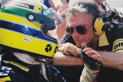 Ayrton Senna and Gérard Ducarouge