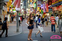 Race car driver Cyndie Allemann in Tokyo