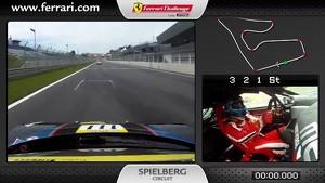 On-board of the Ferrari 458 Challenge: Robert Pergl in Spielberg