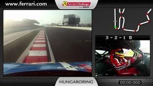 Ferrari 458 Challenge on-board camera: Alessandro Balzan in Budapest