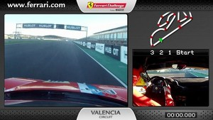 Ferrari 458 Challenge on board cam: Alessandro Balzan in Valencia