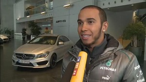 Hamilton's 1st day in Germany