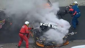 NASCAR Bristol crash between Jamie Dick and Nelson Piquet Jr.